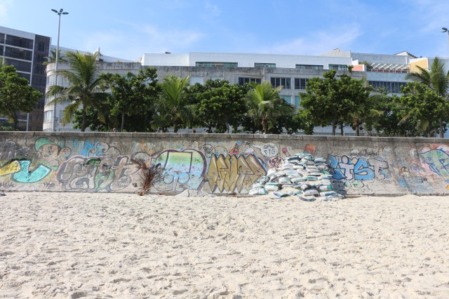 Vu depuis la plage d'Ipanema