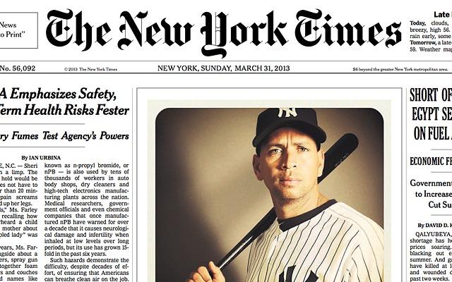 Une du New York Times du 31 mars 2013